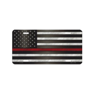 Thin Line Flag - License Plate