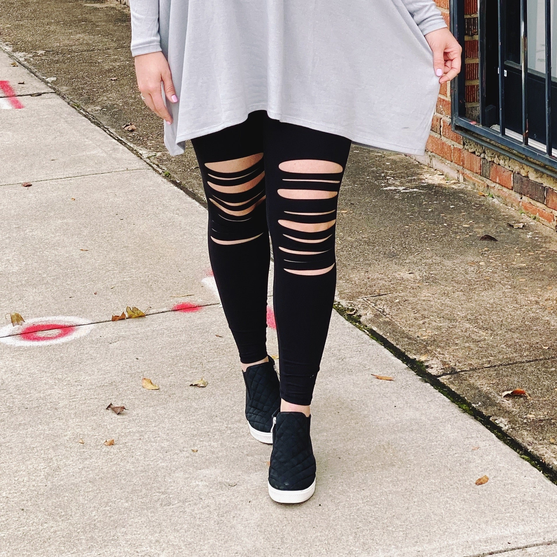 Run Away With Me Distressed - Leggings