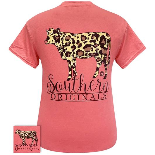 Leopard Print Cow - Short Sleeve