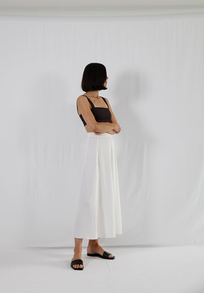 high waisted midi skirt