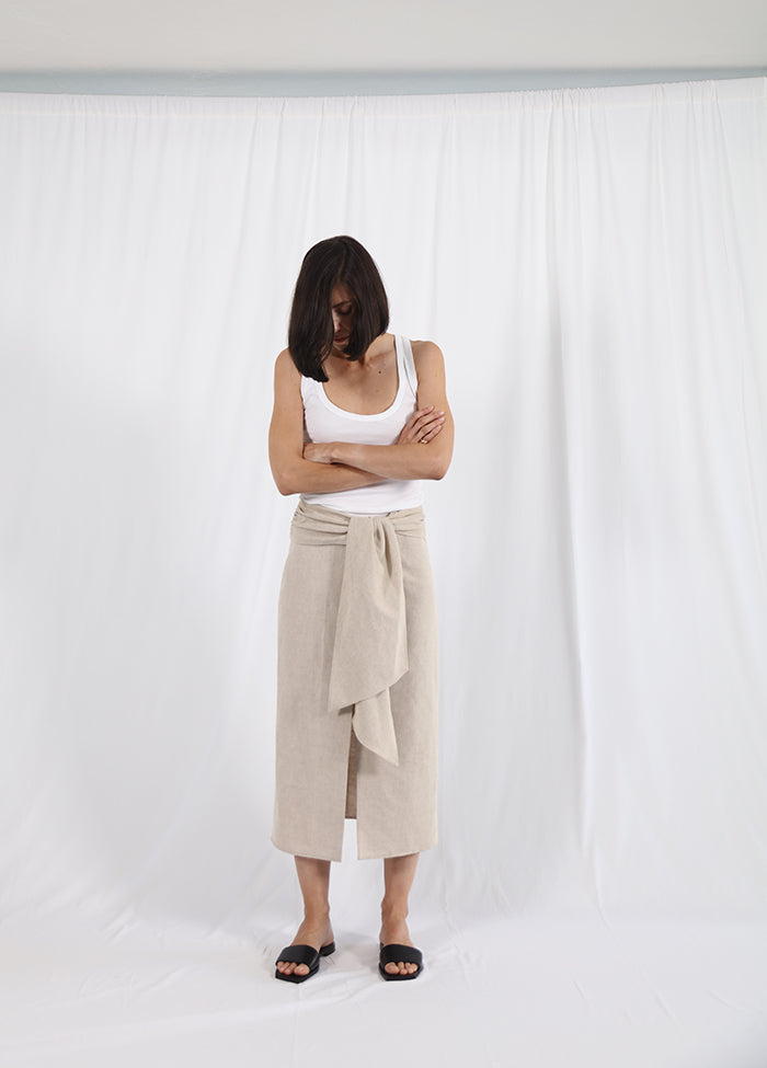 linen knot skirt - coming soon