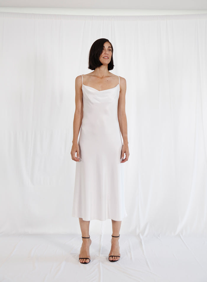 bies white slip dress