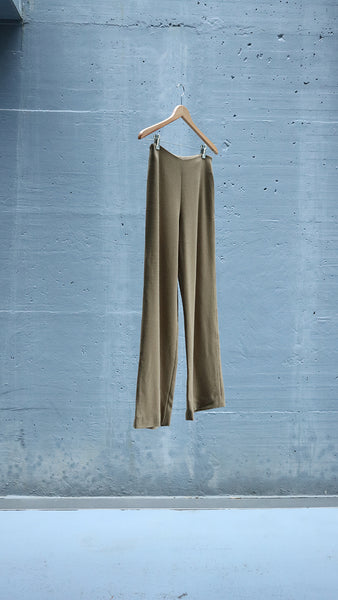 straight wool pants - camel