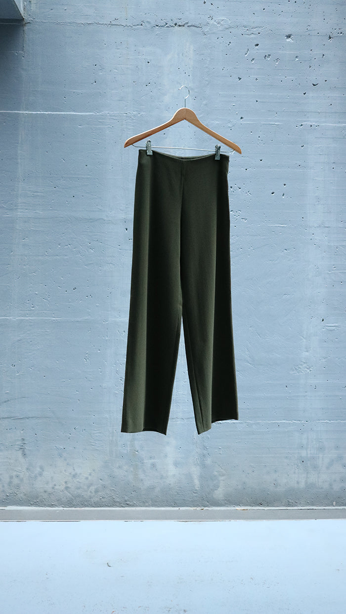 straight wool pants