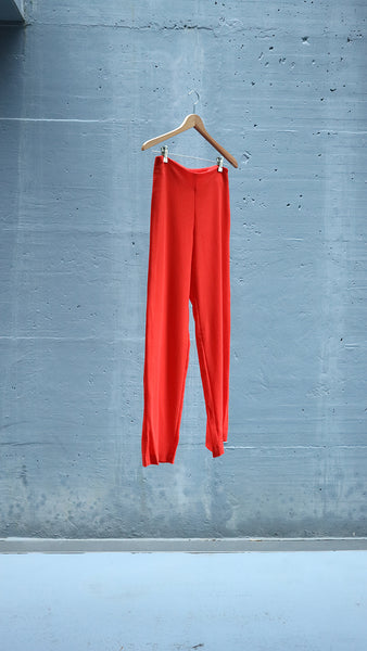 straight wool pants - orange