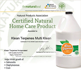 KleanTerpnes™ Multi Klean Natural Products Association Certified