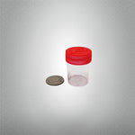 Round Screw Top 27-40 Clear Plastic Storage Tubes with Flip Tops caps (100 Pieces)