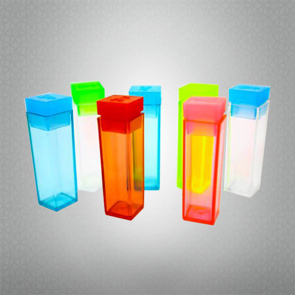 Square Push L Top Plastic Test Tubes with push top caps