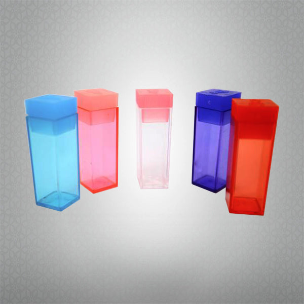 Square Push Small Top Plastic Test Tubes with push top caps (100 Pieces)