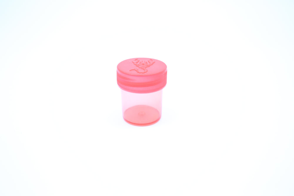 Round Screw Top 27-30 Clear Plastic Storage Tubes with Flip Tops caps (100 Pieces)