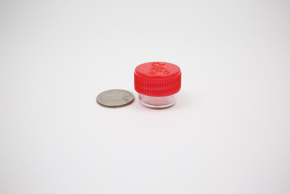 Round Screw Top 23-20 Clear Plastic Storage Tubes with Flip Tops caps [Eastern Smoke Shop]