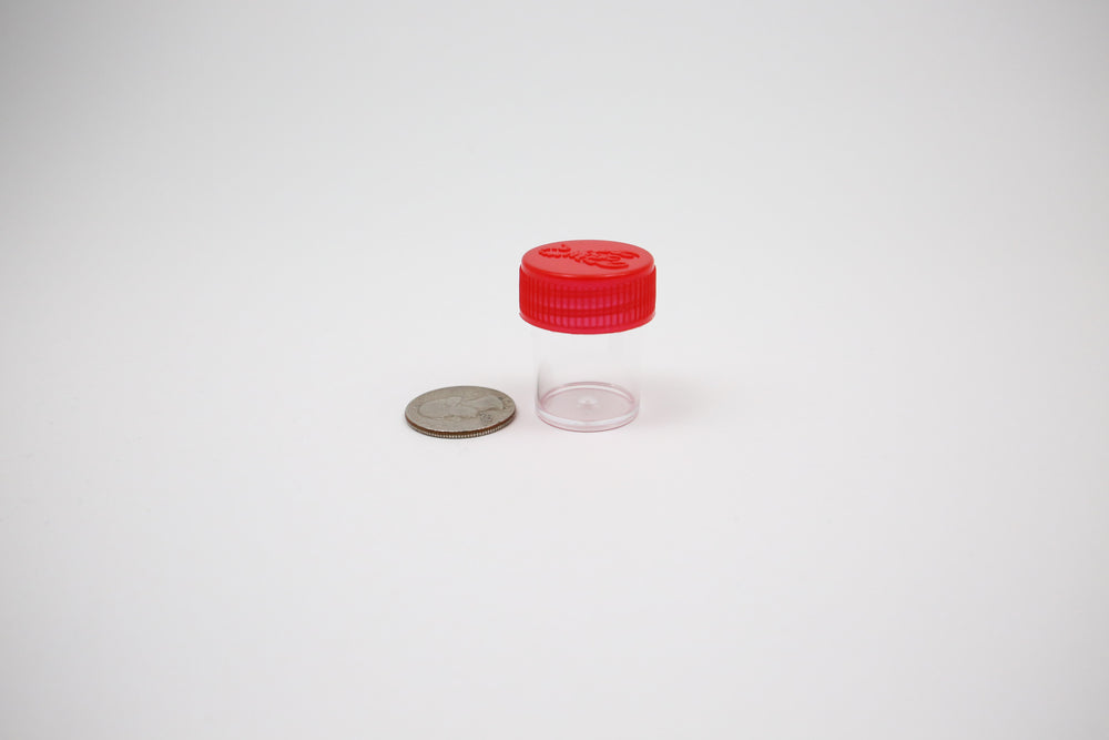 Round Screw Top 23-35 Clear Plastic Storage Tubes with Flip Tops caps [Eastern Smoke Shop]