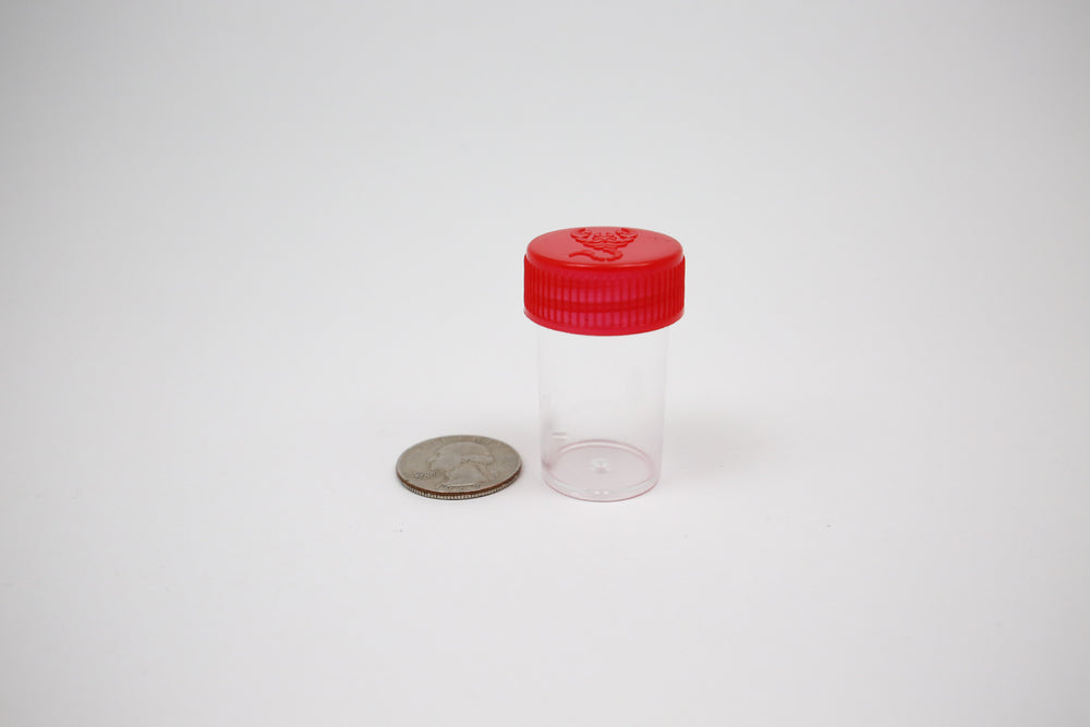 Round Screw Top 23-25 Clear Plastic Containers (100 Pieces)