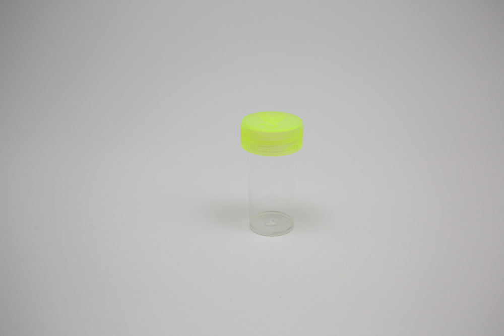 Round Screw Top 23-55 Clear Plastic Storage Tubes with Flip Tops caps (100 Pieces)