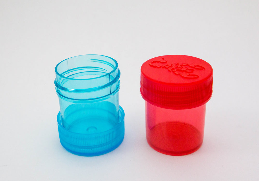 Round Screw Top 27-35 Clear Plastic Storage Tubes with Flip Tops caps (100 Pieces)