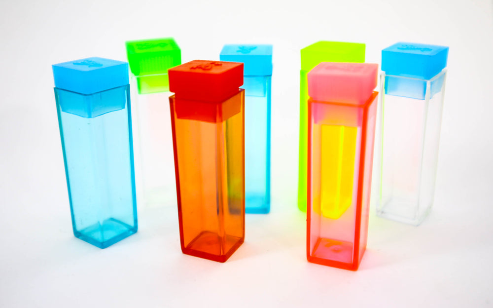 Square Push Large Top Plastic Test Tubes with push top caps (100 Pieces)