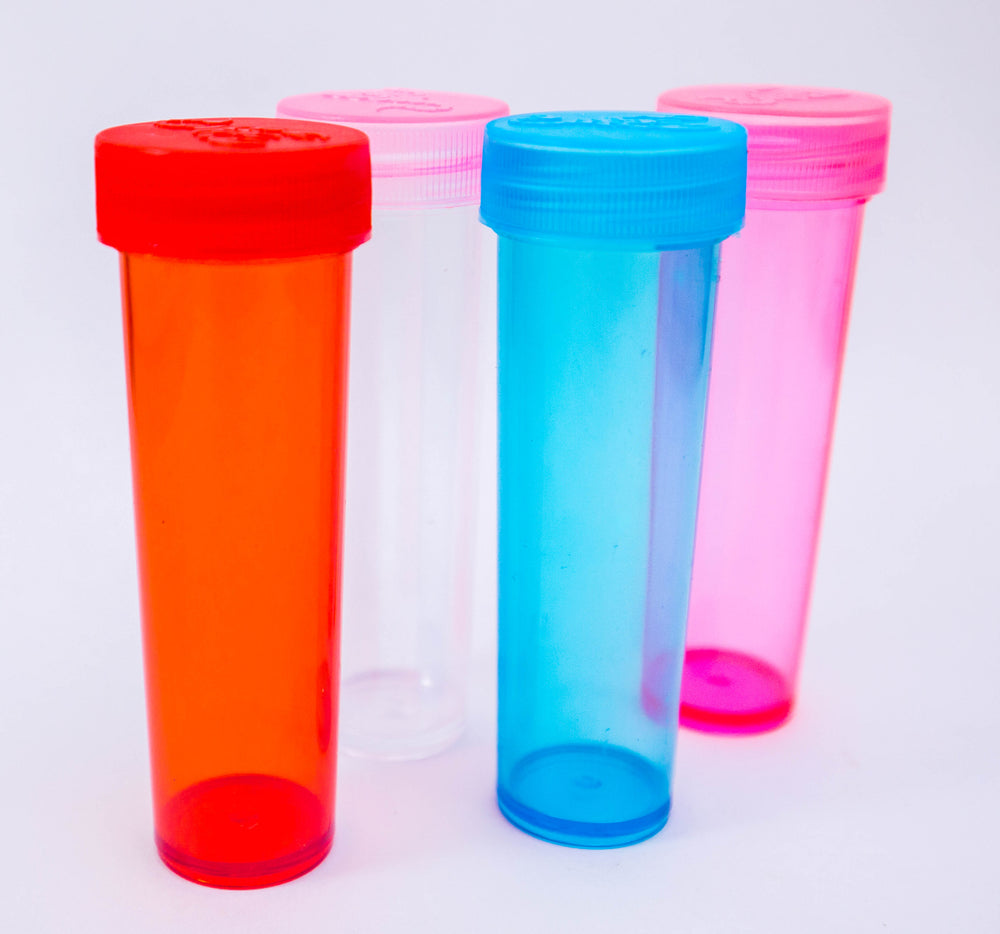 27-90 Screw Top Plastic Sample Jars Containers [Eastern Smoke Shop]