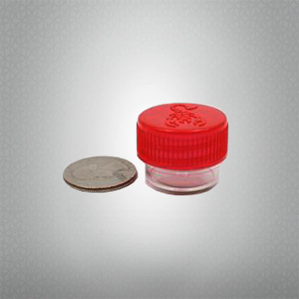 Round Screw Top 23-20 Clear Plastic Storage Tubes with Flip Tops caps