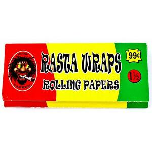 Rasta Papers Rolling Papers Size 1 1/2 Slow Burning