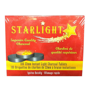 Starlight Charcoal Tablets Hookah Charcoal All Sizes - Wholesale Charcoal