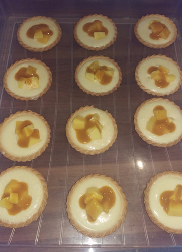 White Choc Ganache and Mango Tartlets £1.90 each