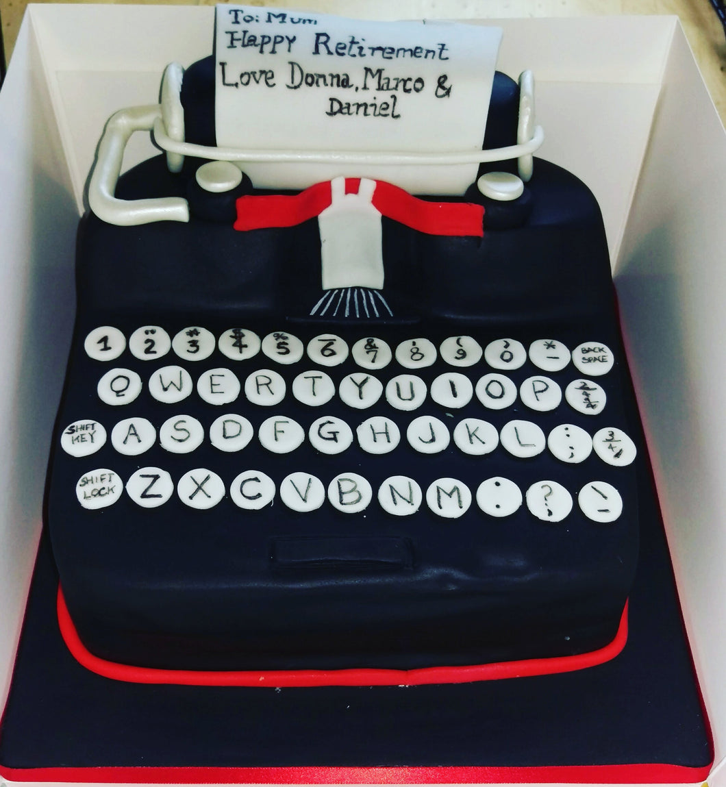 Typewriter Cake Miss Ds Cakes