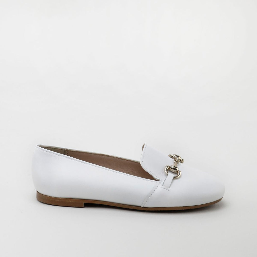 Papanatas White Leather Loafer