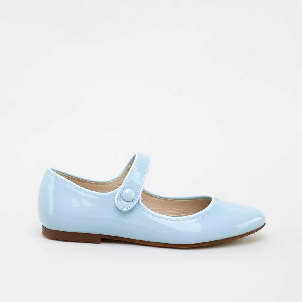 Papanatas Sky Patent Pointed Mary Jane