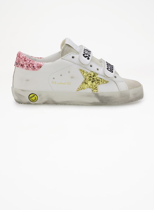 Golden Goose White Ice Velcro Sneaker