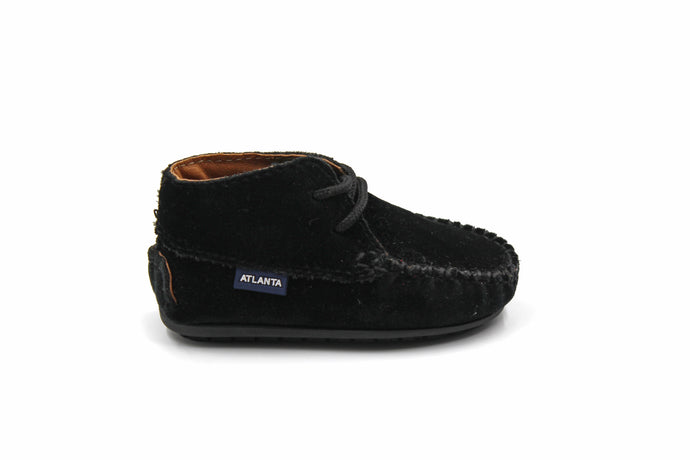 Atlanta Black Baby Bootie