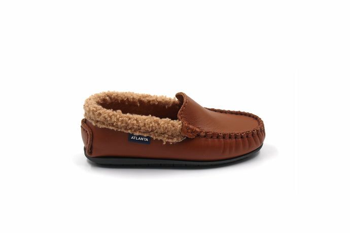 Atlanta Camel Sherpa Trimmed Loafer
