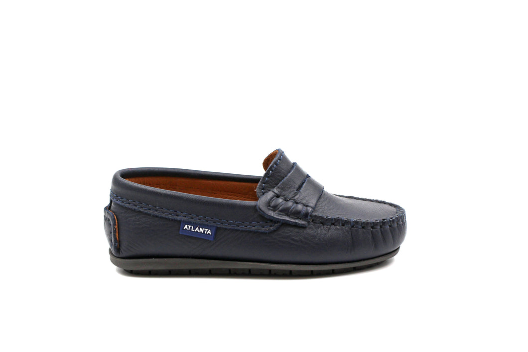 Atlanta Navy Penny Loafer