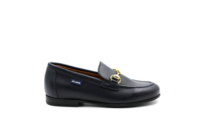 Atlanta Navy Buckle Dress Shoe