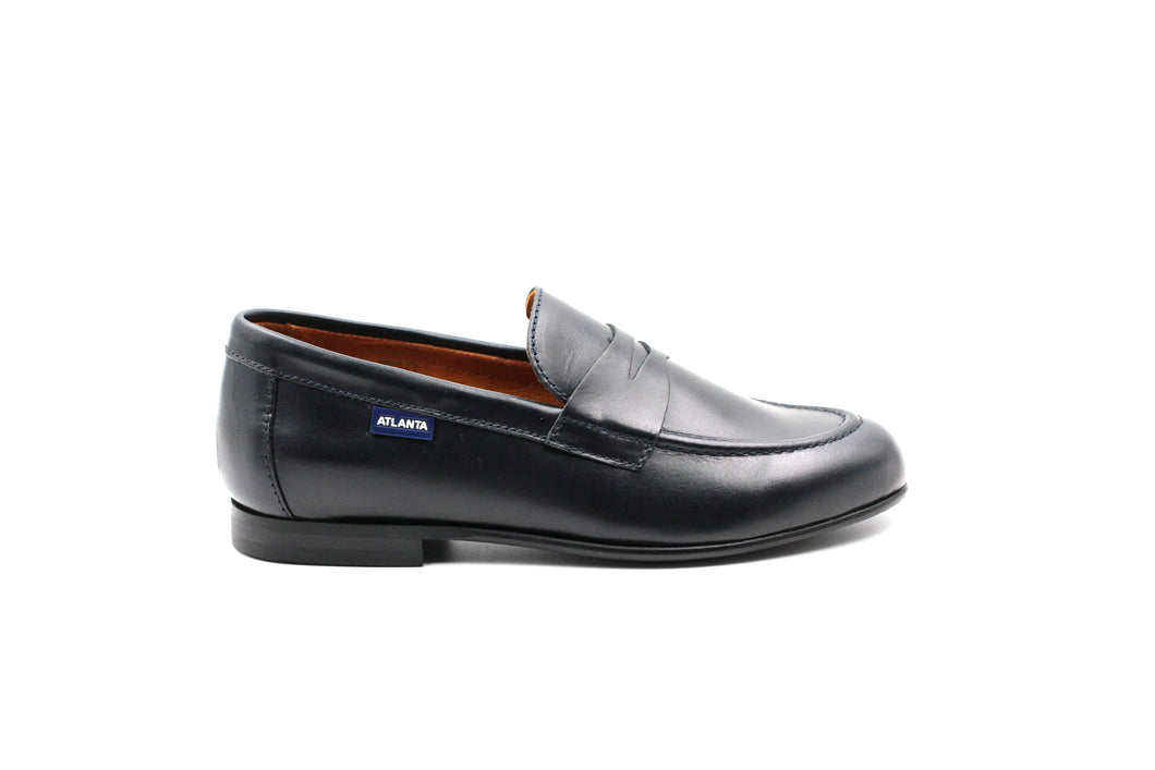 Atlanta Navy Penny Dress Shoe