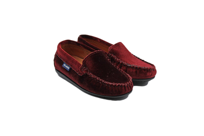 Atlanta Mocassin kids Wine Velvet Loafers