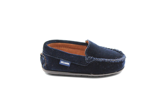 Atlanta Navy Velvet Loafer