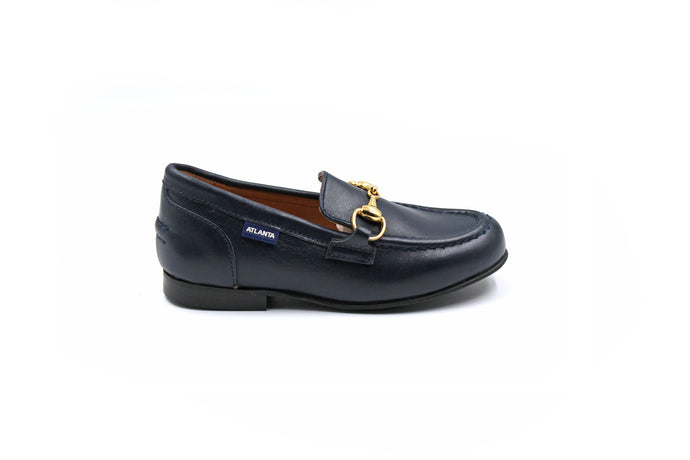 Atlanta Navy Buckle Dress Loafer