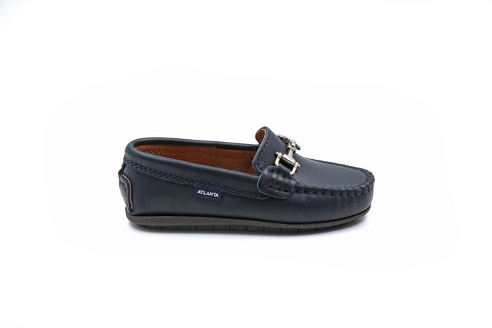 Atlanta Navy Buckle Loafer