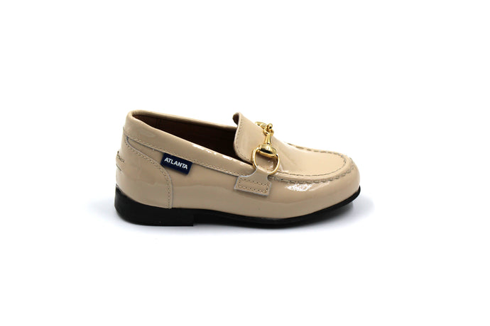 Atlanta Sand Patent Buckle Loafers