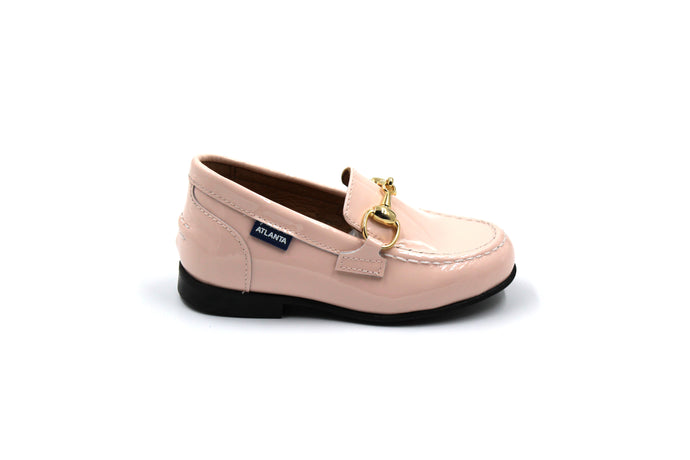 Atlanta Pink Patent Buckle Loafer