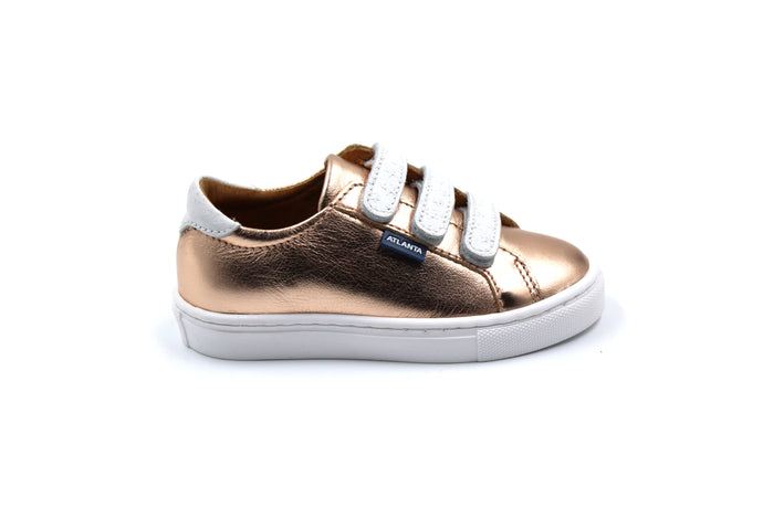 Atlanta Mocassin Rose Gold Velcro Sneakers