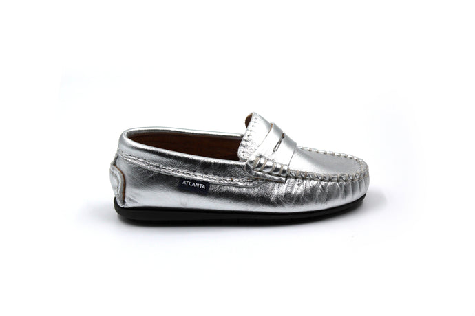 Atlanta Silver Penny Loafer