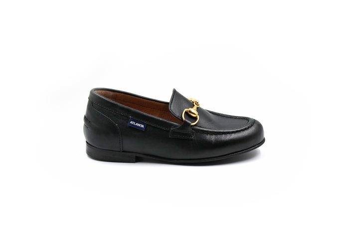 Atlanta Black Buckle Dress Loafer