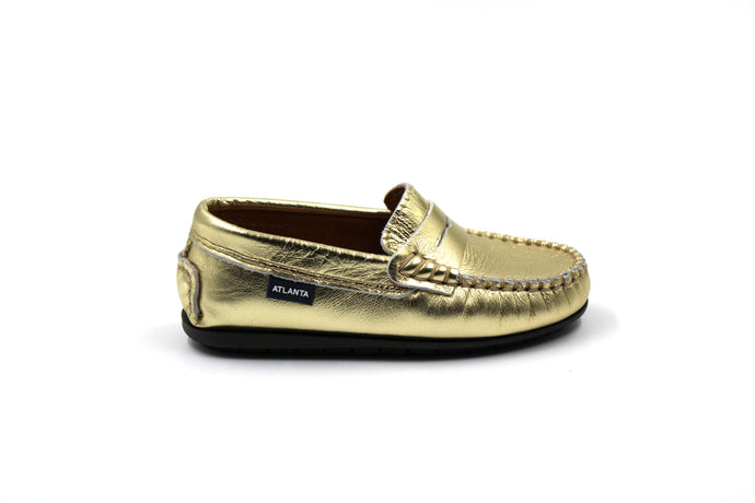 Atlanta Gold Penny Loafer Sale Online