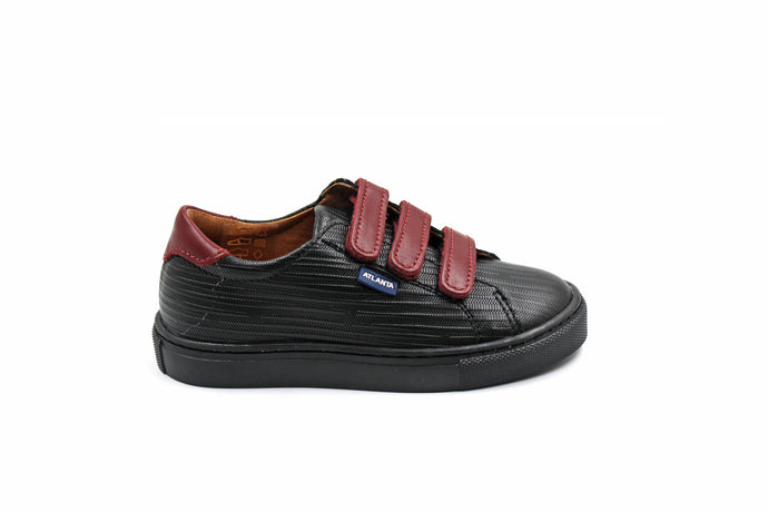 Atlanta Black Three Velcro Sneaker