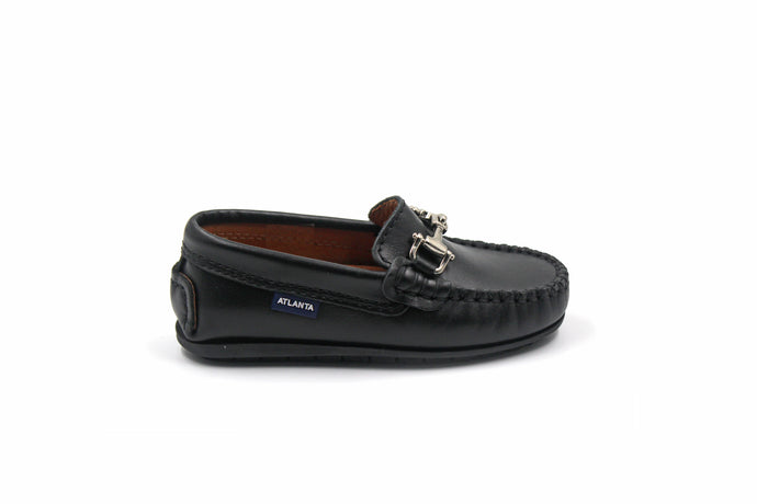 Atlanta Black Buckle Loafer