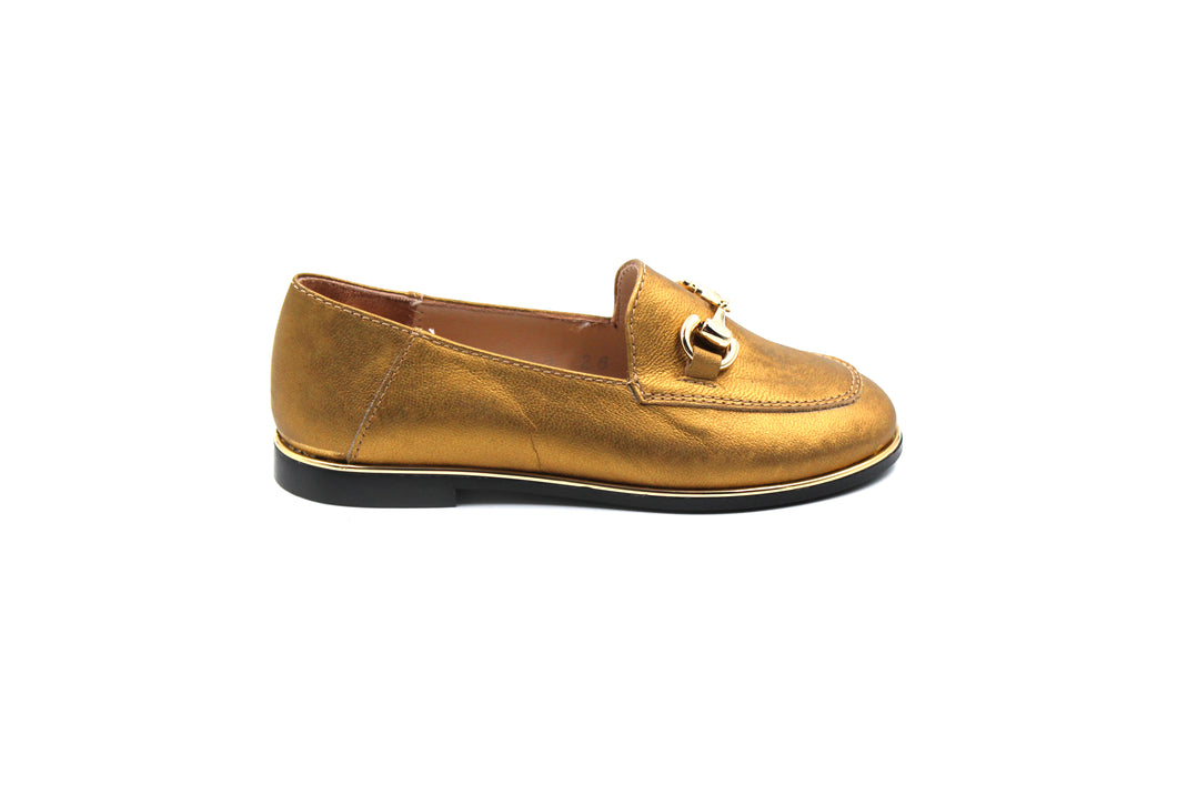 Beberlis Gold Kids Toddler Loafer