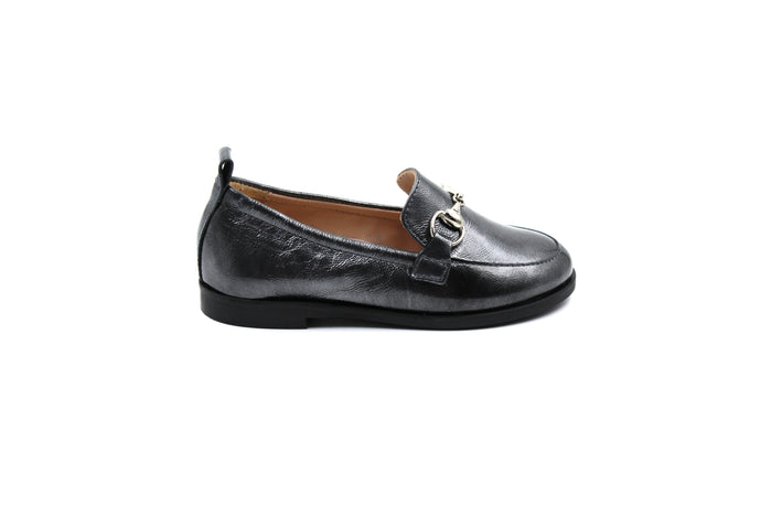Beberlis Gray Penny Loafer Shoes for Kids