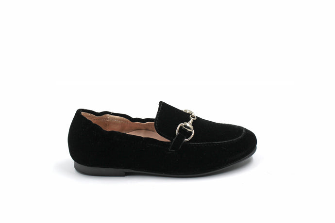 Beberlis Black Velvet Loafer