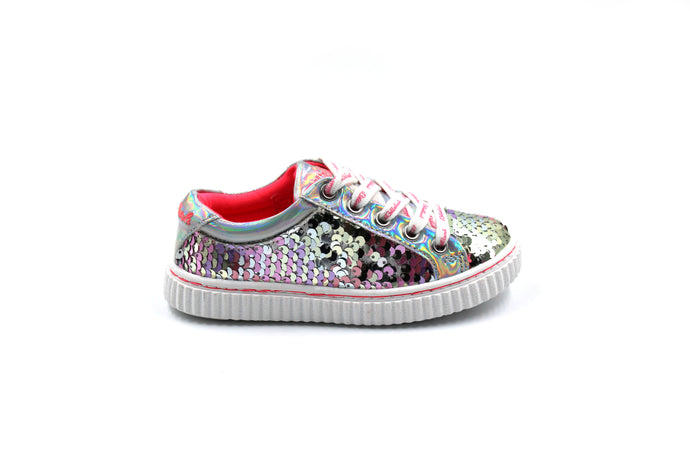 Billie Blush Sequined Sneaker